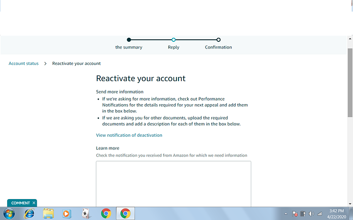 How To Appeal To Reactivate My Account Sell On Amazon Amazon Seller Forums