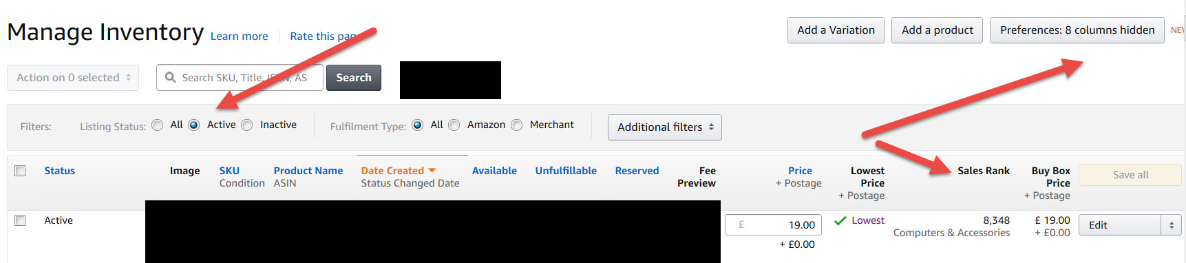how do you keep track of fba inventory general selling on amazon
