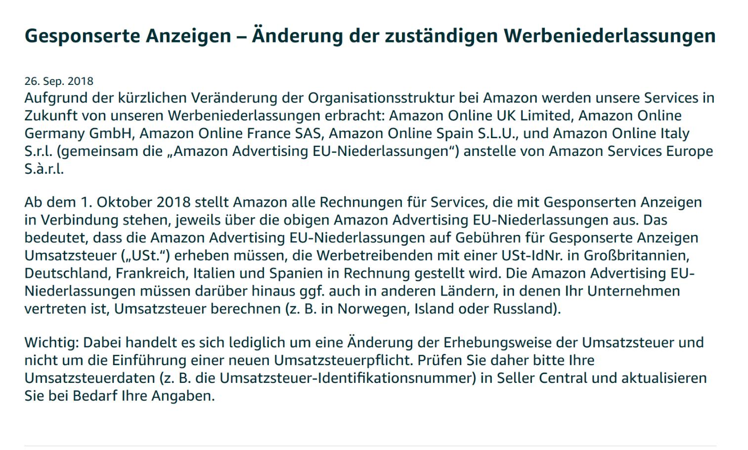 Umsatzsteuer Rechnungen Für Werbung Amazon Gesponserte Produkte