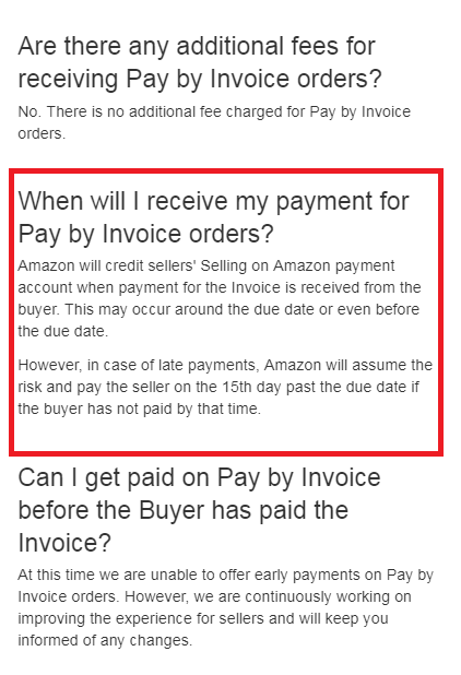 Invoice As A Method Of Payment General Selling On Amazon Questions - Invoice not paid
