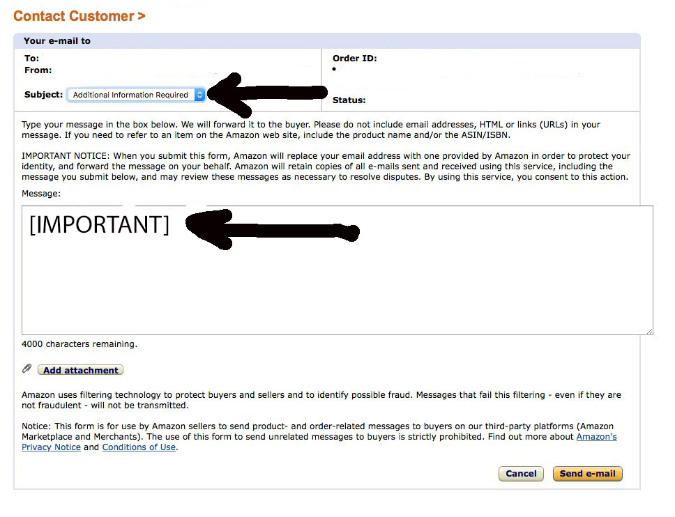 Seller Amazon My On Isn't Emails Forums General Receiving Selling Questions Buyer -
